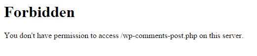 Fehlermeldung für geblockte User