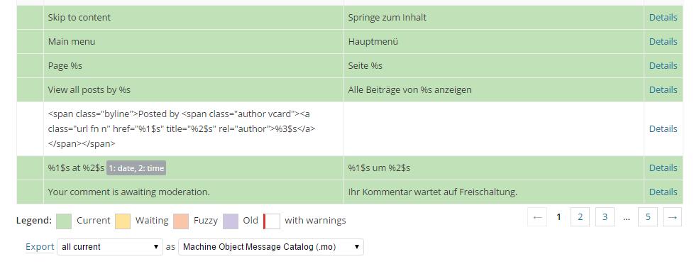 .mo-Datei für diese Sprache exportieren