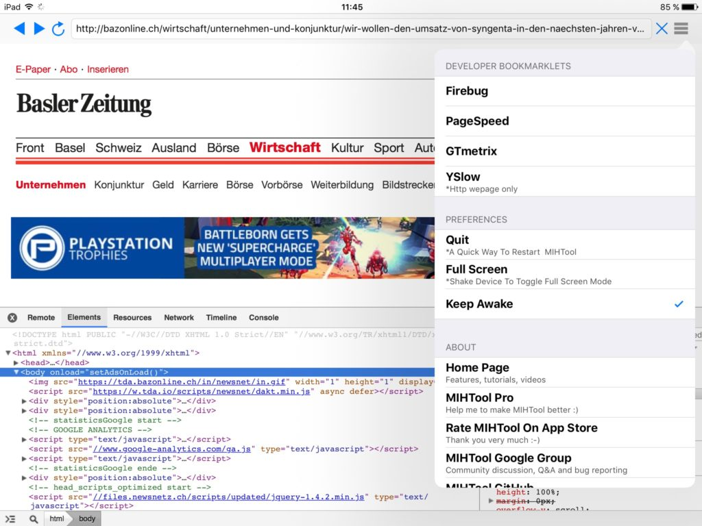 Webdebugging mit MIHTool