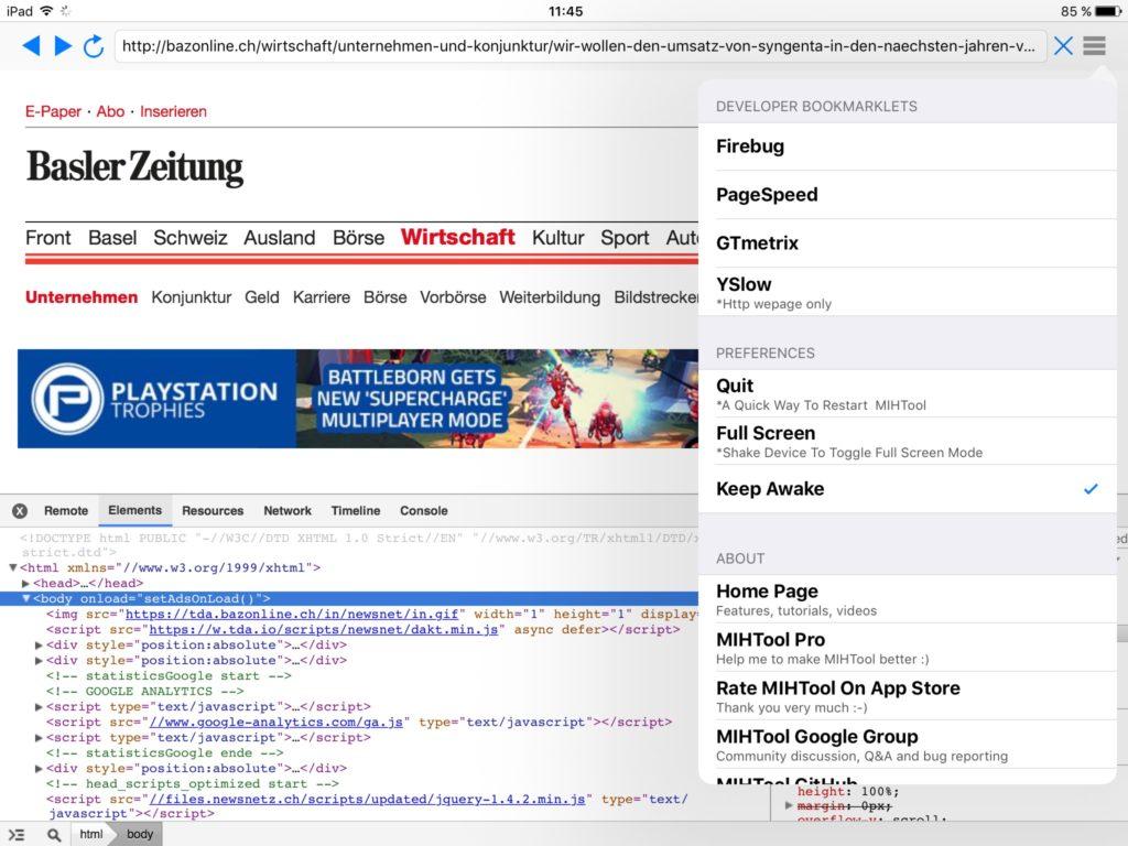 Webdebugging mit MIHTool