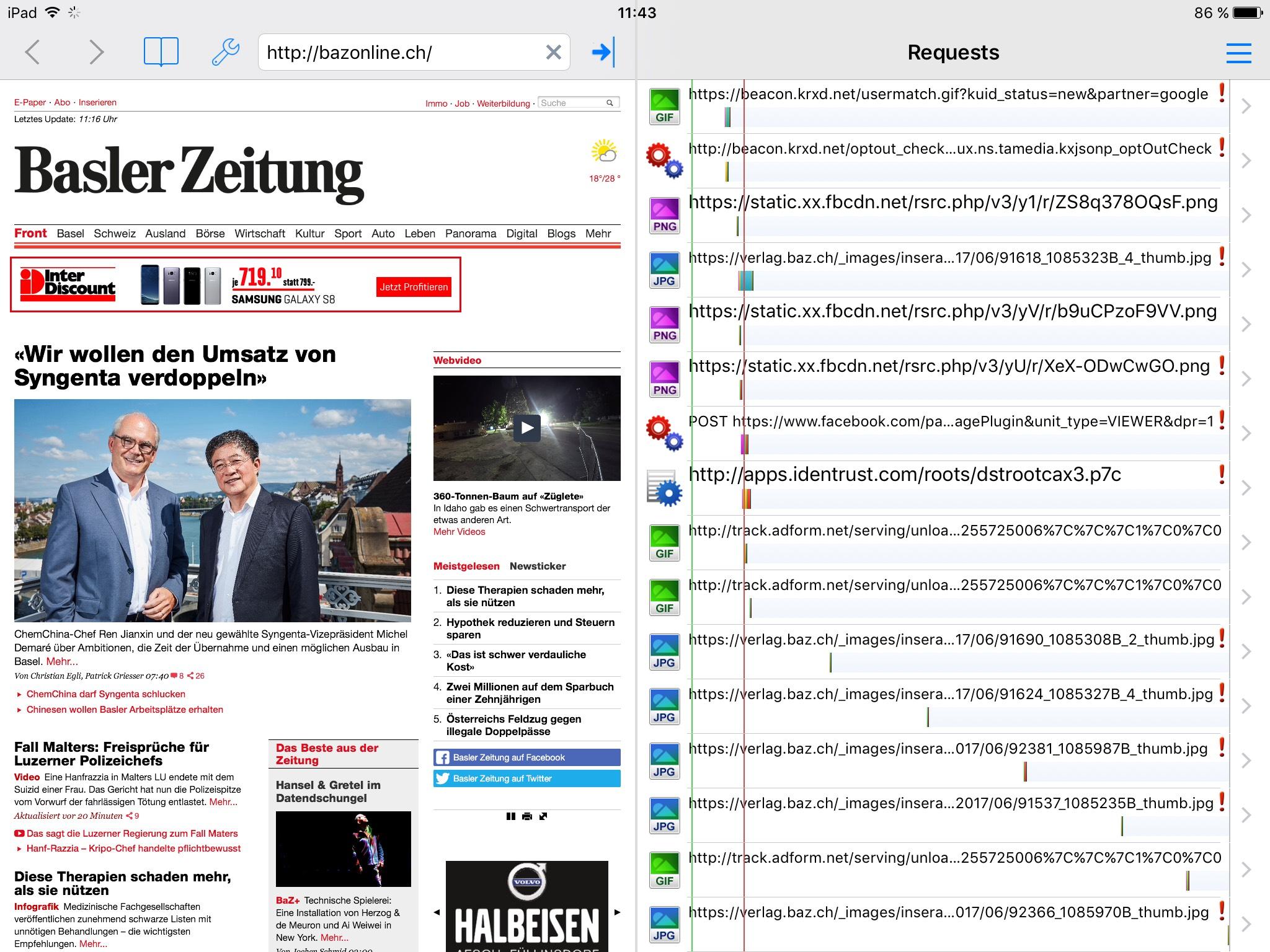 Webdebugging mit httpWatch