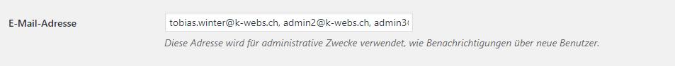 wp wrong format mail