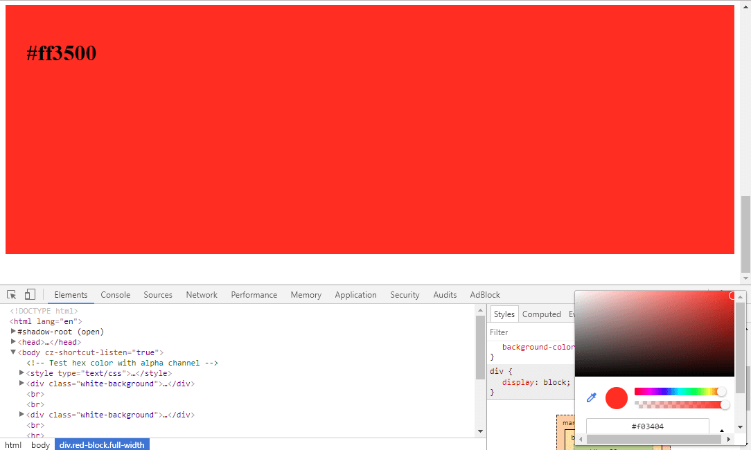 Neuer Farbwert in Chrome
